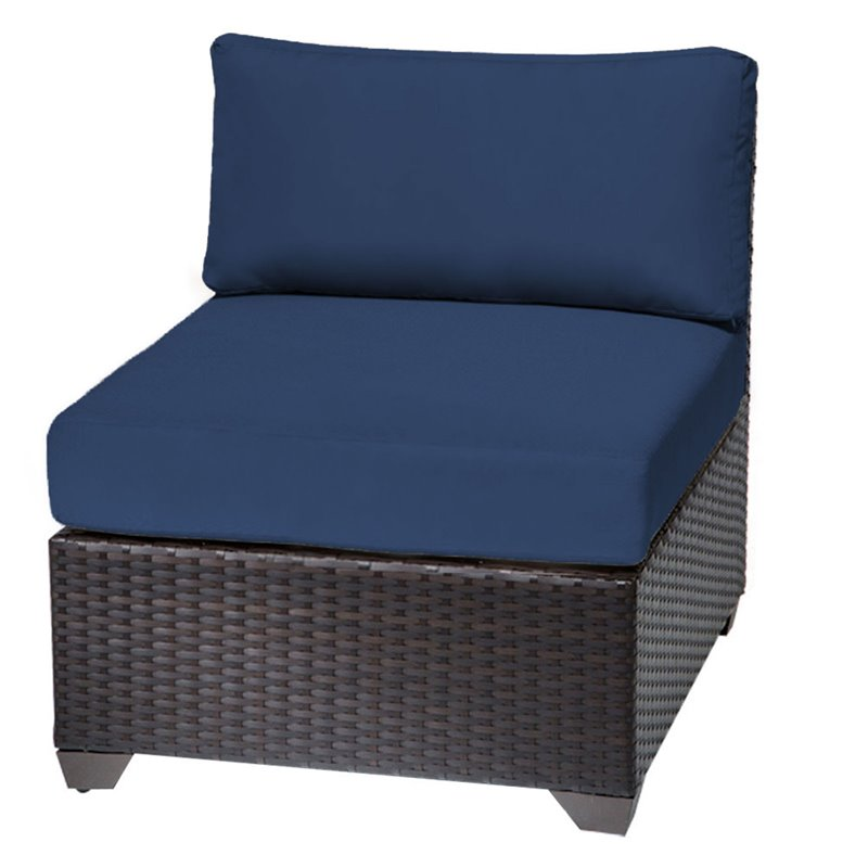 Bowery Hill Armless Patio Chair in Navy