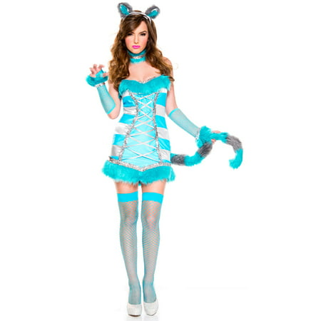 Cheery Cheshire Cat Costume, Sexy Cheery Cheshire Cat Costume - Chesire Cat Halloween Costume
