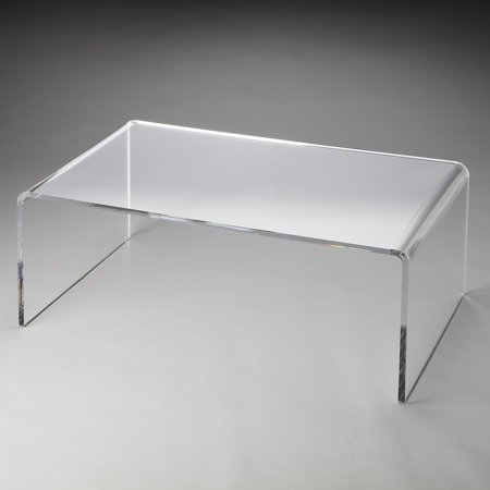 Butler crystal clear acrylic coffee table butler loft Acrylic clear coffee table