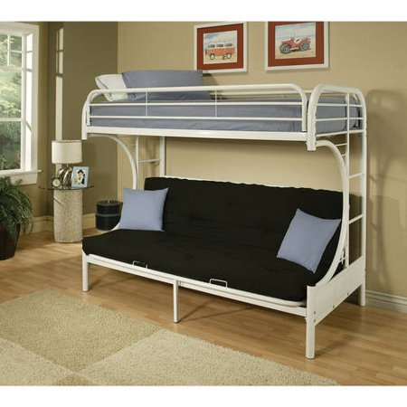 Eclipse Twin Over Full Futon Bunk Bed Multiple Colors