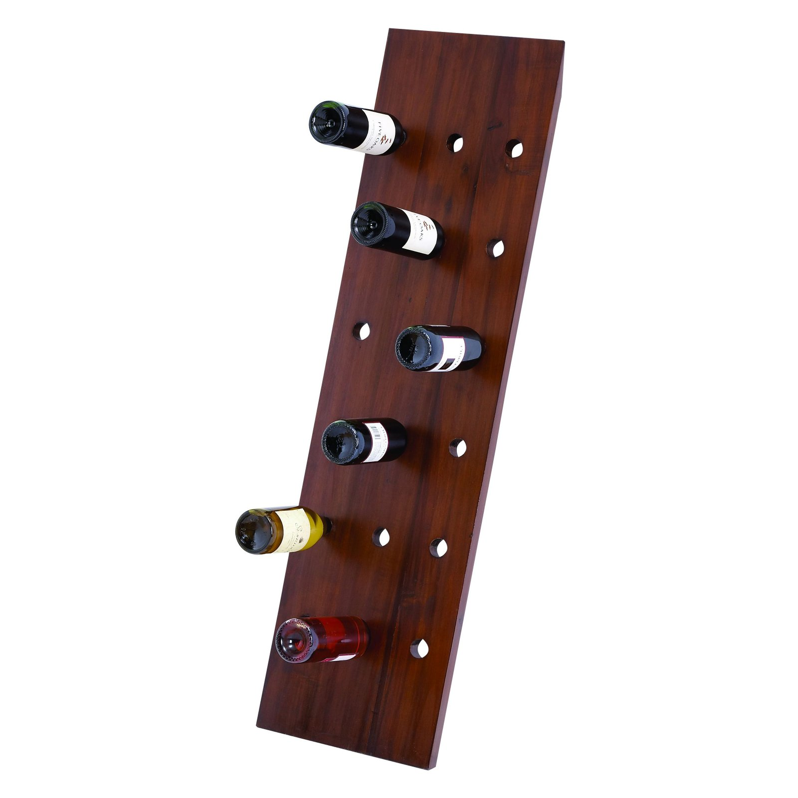 Woodland Imports 50 in. Straight Wood Brown Stain 18 Bottle Wine Rack by UMA Enterprises Inc.