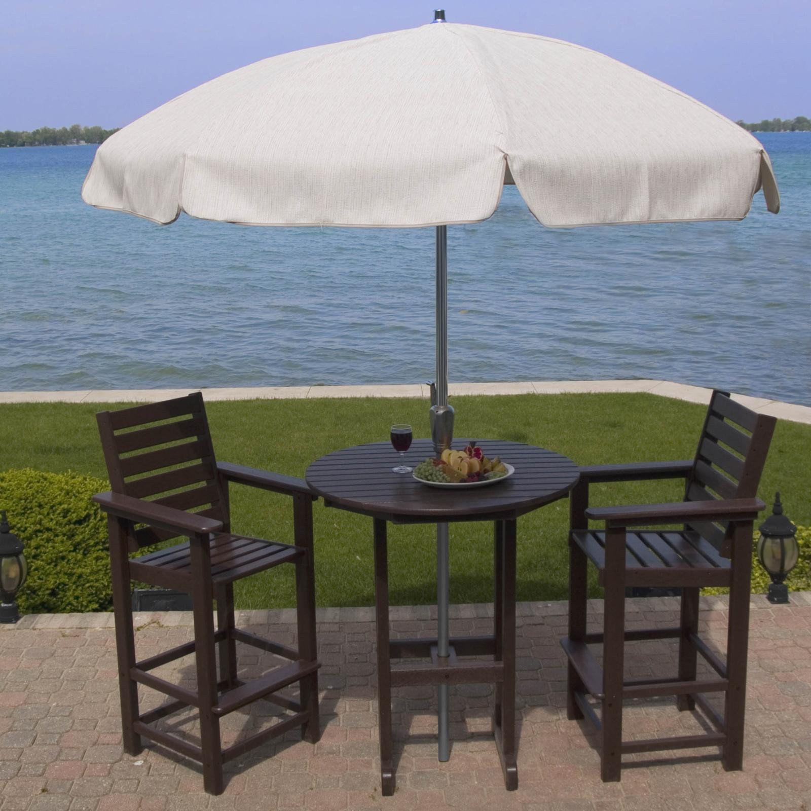 POLYWOOD® Captain Recycled Plastic 3 pc. Bar Bistro Set