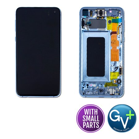 Touch Screen Digitizer and AMOLED Frame Display Assembly for Prism Blue Samsung Galaxy S10e SM-G970, SM-G970U, SM-G970W, SM-G970F/DS (5.8