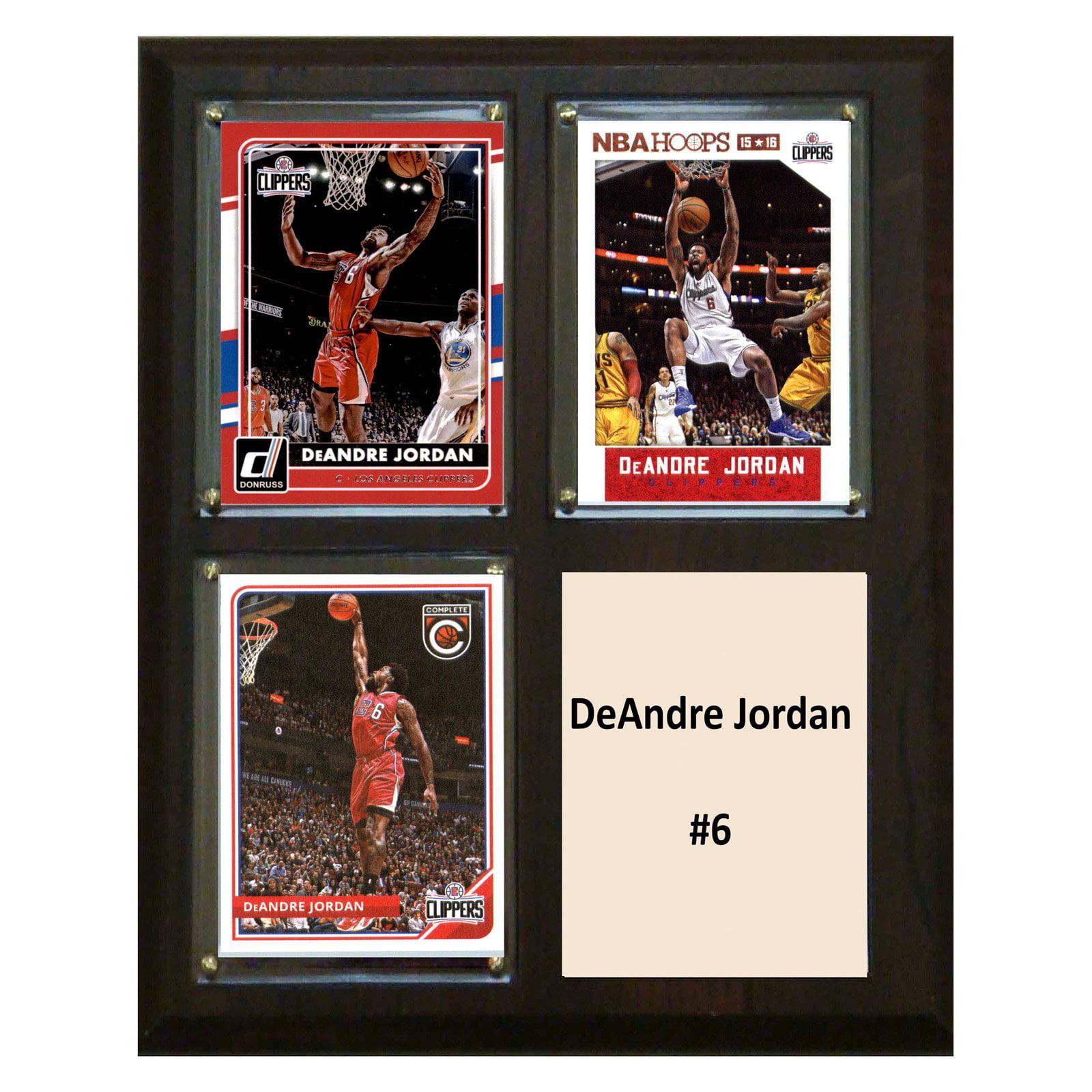 """C & I Collectables NBA 8"""" x 10"""" DeAndre Jordan Los Angeles Clippers 3-Card Plaque"""