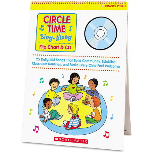 Scholastic Circle Time Sing Along Flip Chart with CD, Grades Pre-K-1, 26 Pages