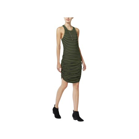 Chelsea Sky Womens Striped Ruched Tank Dress (Ruched Tank Dress)