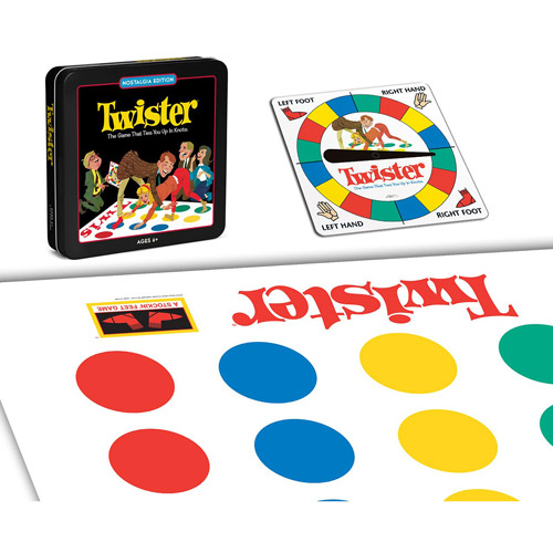 Winning Solutions Twister Board Game, Nostalgia Edition Game Tin by Winning Solutions