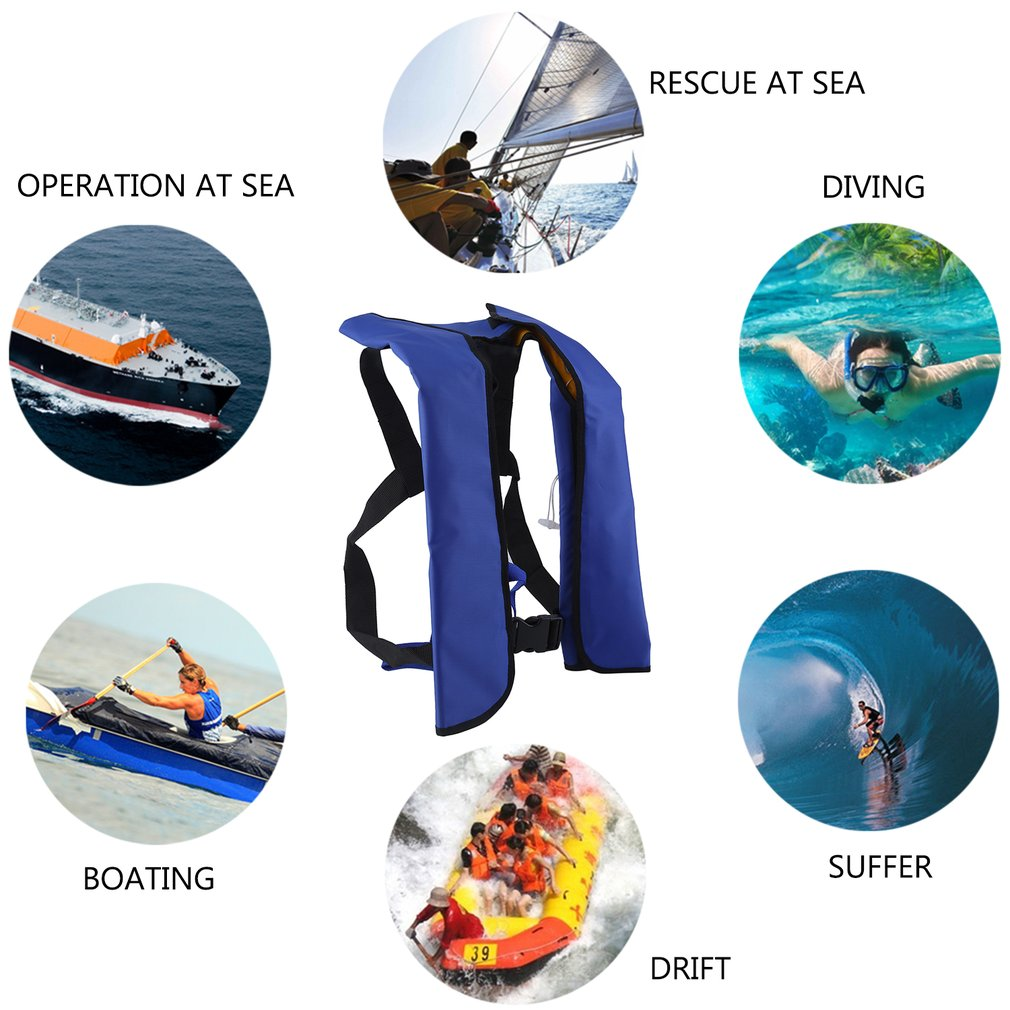 Life Jackets For Adults Children Kids Youth Automatic Life Jacket Cars Inflatable Survival Aid Lifesaving Floatation... by HZR