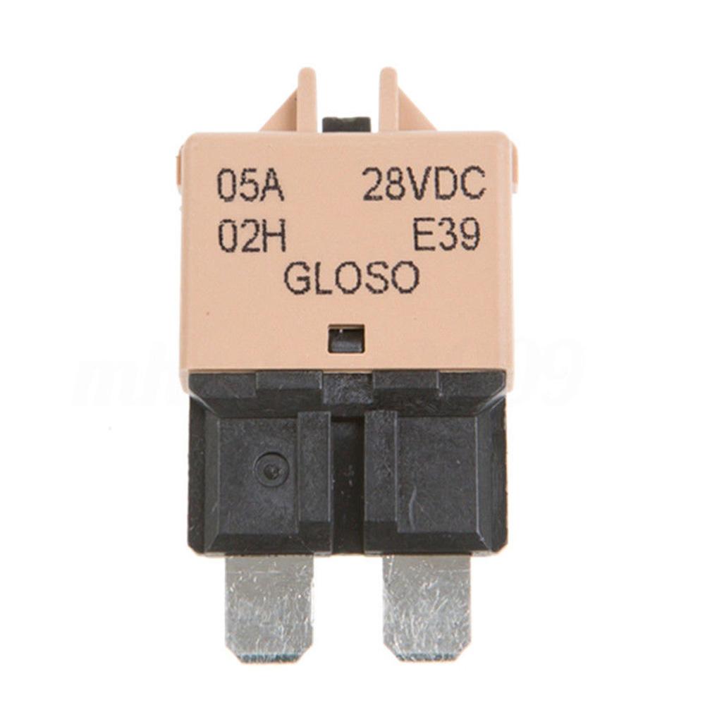 5-30A ATM Mini Circuit Breaker Blade Fuse Manul Resettable Marine Car RV 12V