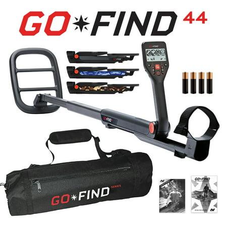 Minelab GO-FIND 44 Metal Detector with GO-FIND Black Carry Bag for