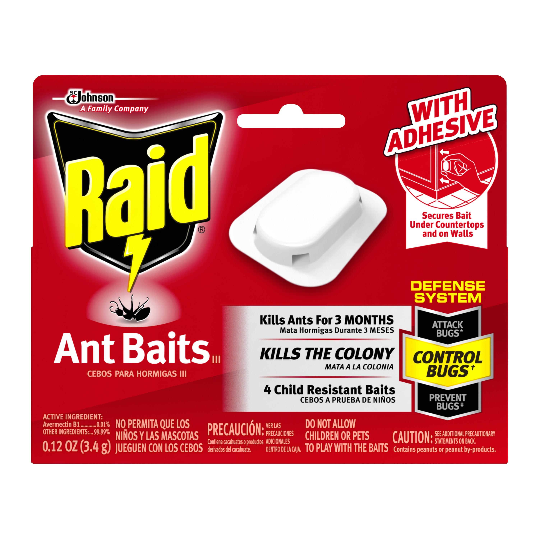 Raid Ant Baits III, 4 count (2 pack)