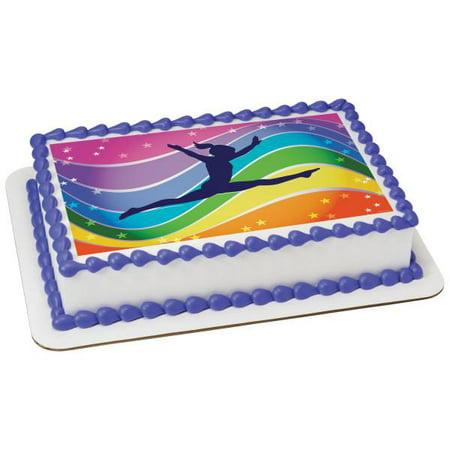 Peachy Gymnastics Edible Cake Topper Image Walmart Com Walmart Com Personalised Birthday Cards Cominlily Jamesorg