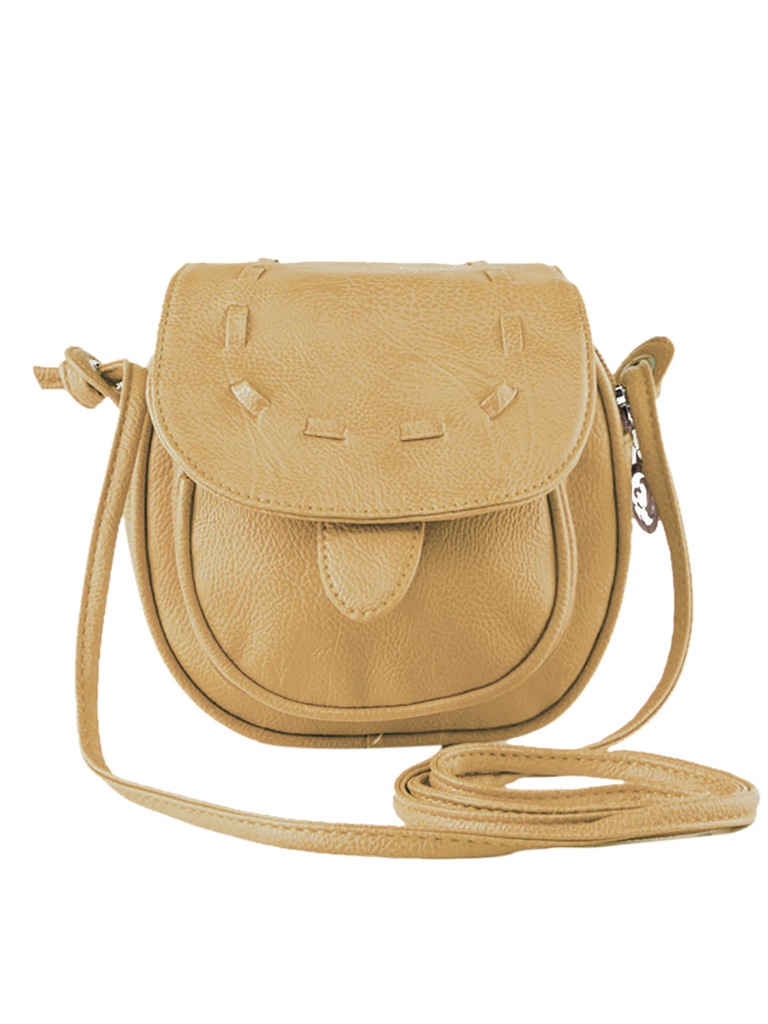 Unique Bargains Women's Flaptop Stitching Leatherette Mini Crossbody Bags