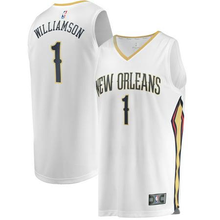 Zion Williamson New Orleans Pelicans Fanatics Branded 2019 NBA Draft First Round Pick Fast Break Replica Jersey White - ()