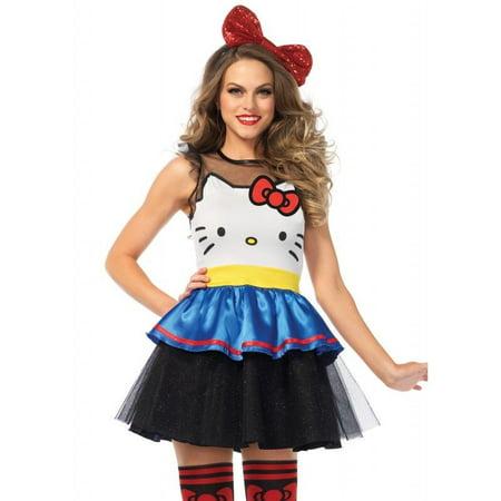 Leg Avenue Darling Hello Kitty Womens Adult Costume - Womens Hello Kitty Costume