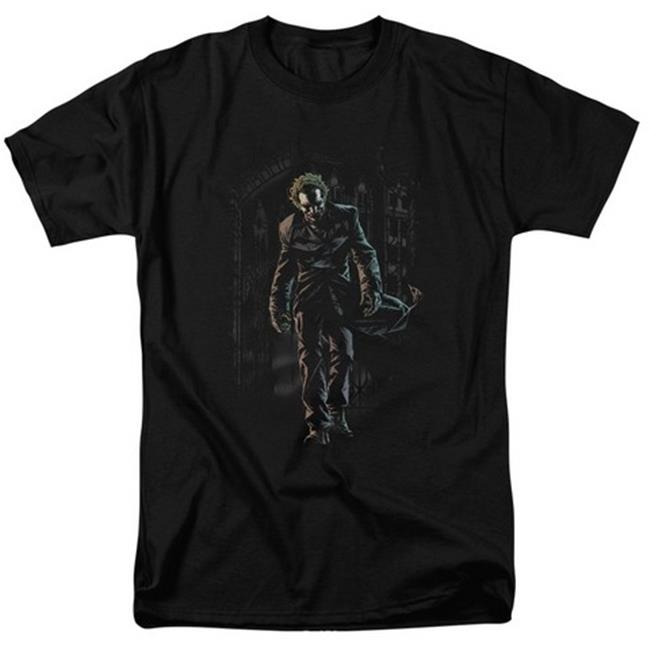 Batman-Joker Leaves Arkham - Short Sleeve Adult 18-1 Tee - Black, 5X - image 1 of 1