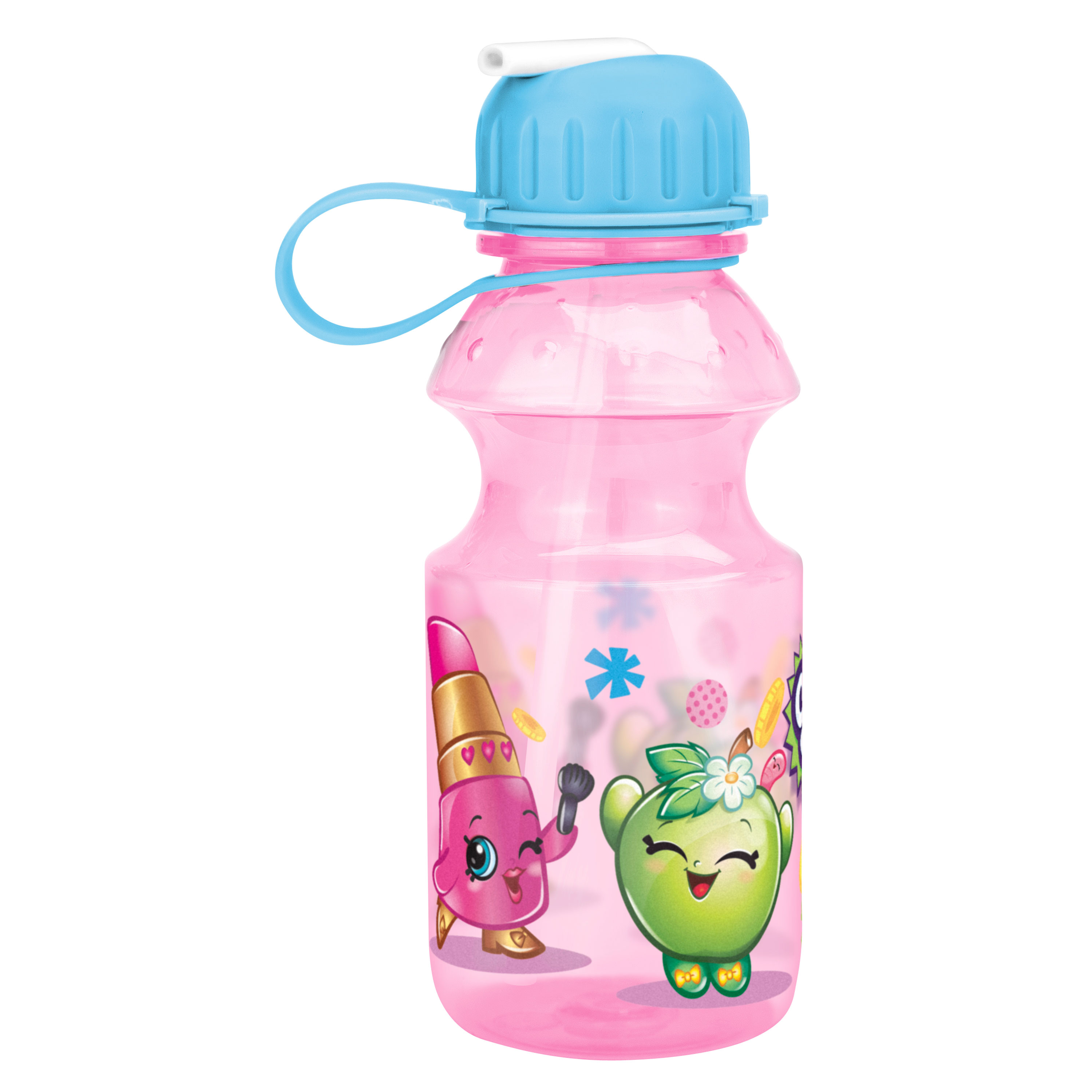 Shopkins Lippy Lips & Apple Blossom Water Bottles 14 oz.