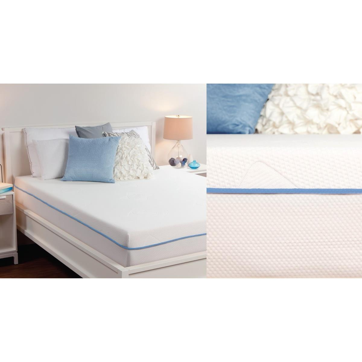 Sealy 8 Inch Premium Memory Foam Mattress With Cover Cal King by Comfort Revolution