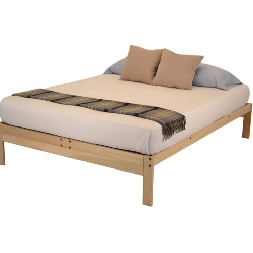 Nomad 2 Platform Bed by KD Frames, Solid Hardwood Bed Frame, Multiple Sizes, All Natural, Made in the USA