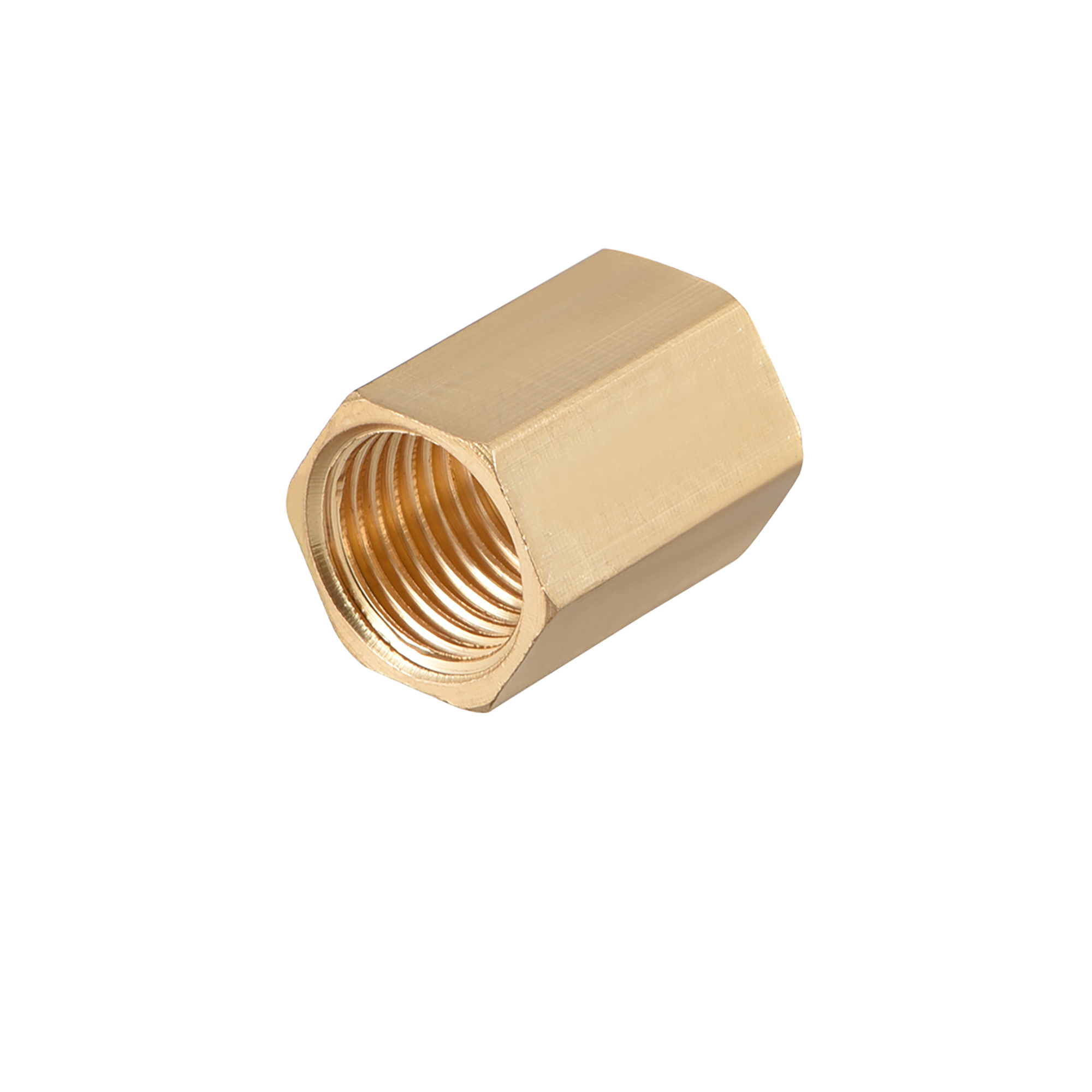 """Brass Pipe Fitting, 1/4"""" G Female Thread Straight Brass Hex Rod Pipe Fitting Coupling - image 1 de 4"""