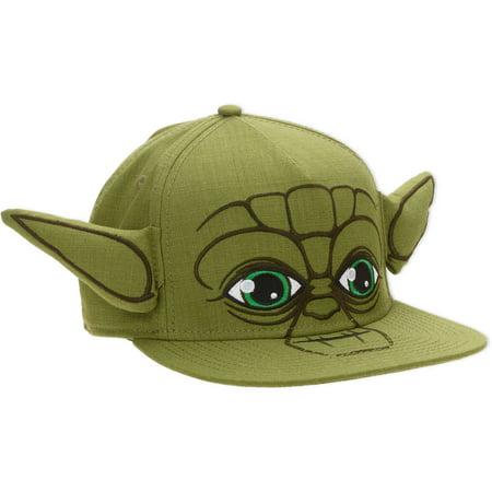 10cfab11916f9 License - Yoda Big Face Snapback Men s Hat - Walmart.com