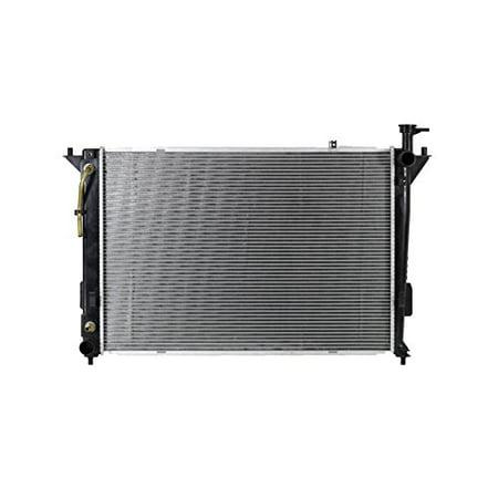 Radiator - Pacific Best Inc Fit/For 13193 10-12 Hyundai Santa Fe 11-15 Kia Sorento Manual Transmission 2.4L Plastic Tank Aluminum Core (Without Transmission Oil