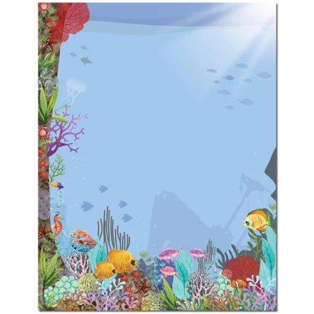 Coral Reef Letterhead Laser & Inkjet Printer Paper - Coral Paper