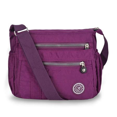 Waterproof Shoulder Bag Fashionable Cross-body Bag Casual Bag Handbag for Women, Purple