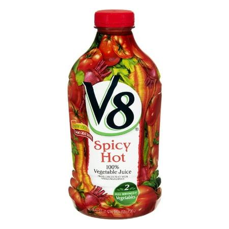 V8 100% Vegetable Juice - Spicy Hot, 46 FL OZ (Pack of