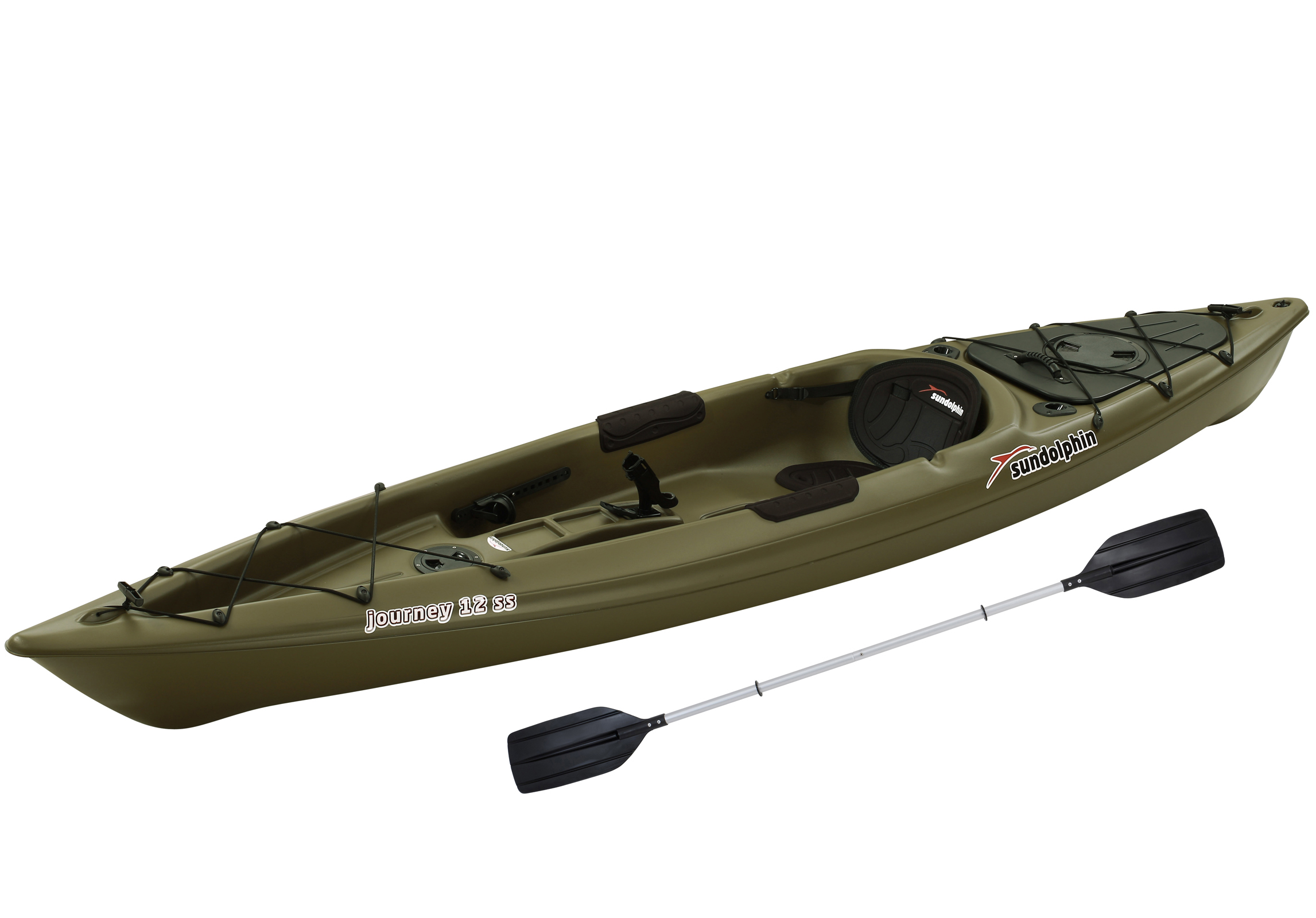 Sun dolphin journey 12 39 sit on fishing kayak paddle for Fishing kayak walmart