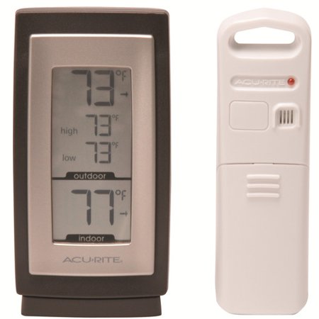 Image of Chaney AcuRite Wireless Indoor/Outdoor Thermometer and Hygrometer