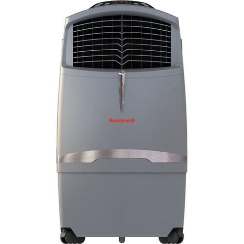 Honeywell CO30XE 525 CFM Indoor/Outdoor Evaporative Air Cooler (Swamp Cooler) with Remote Control in Gray