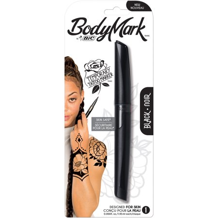 BIC BodyMark Temporary Tattoo Marker, Black, 1-Count (Hockey Tattoos)