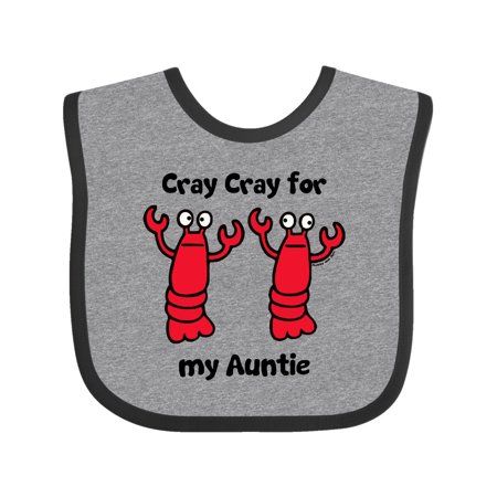 Lobster Cray Cray for my Auntie Baby Bib (Baby Lobster)