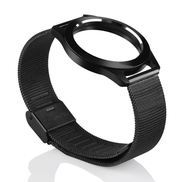 New Fashion Steel Wristband Strap Bracelet Sleep Fitness Monitor For Misfit Shine 2 BK