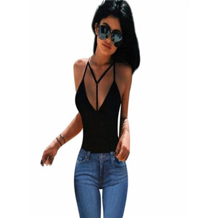 Women Bra Crop Bustier Bralette Corset Tops Tank Top Blouse T-Shirt Black/L for $<!---->