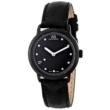 88 Rue Du Rhone  Women's 87WA120001 'Double 8 Origin' Swiss Quartz Black Leather Watch (Witch Origin)