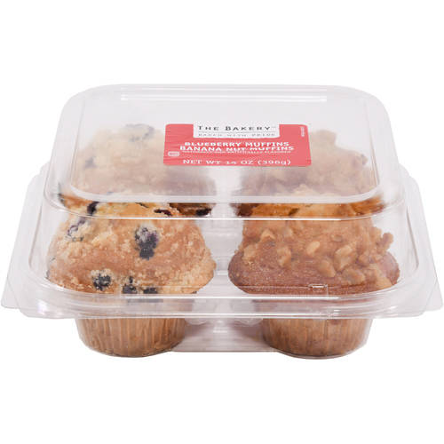 The Bakery Blueberry & Banana Nut Muffin Variety Pack, 4 ct, 14 oz