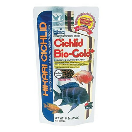- Hikari Cichlid Bio-Gold Plus Medium Pellet Fish Food, 8.8 Oz