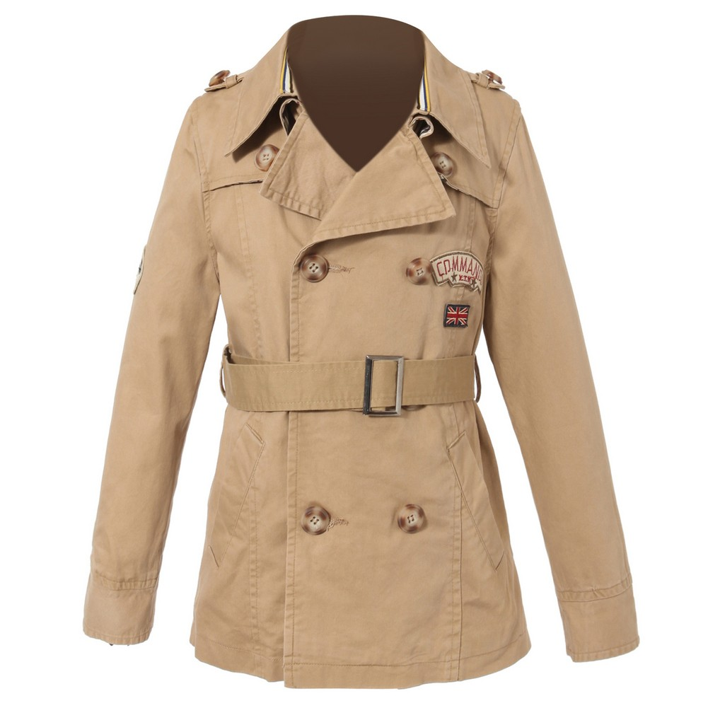 Richie House Big Boys Khaki Badges Double Breasted Jacket 11/12