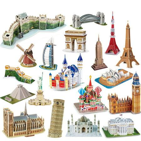 World Famous Building 3 Dimensional Model Assembled Diy Puzzle Children Educational Games Toys Kids Toys Walmart Canada