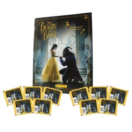 Panini - Disney's Beauty & the Beast - STICKER ALBUM & 10 PACKS (Best Stickers)
