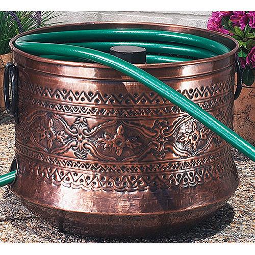 Embossed Copper Garden Hose Holder