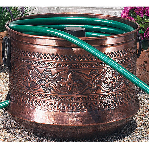 Embossed Copper Garden Hose Holder