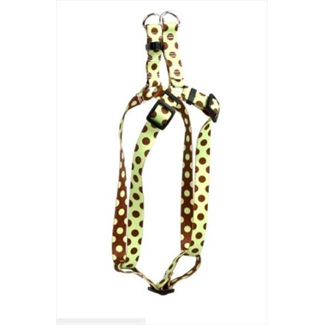 Yellow Dog Design Polka Dot Step-In Harness - Small