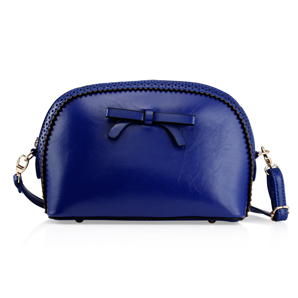 Fashion Women Handbag Bow Tie Shoulder Bags Tote Crossbody Satchel Purse PU Leather Lady Messenger Hobo Bag (Motheri s day Gift) - Dark Blue