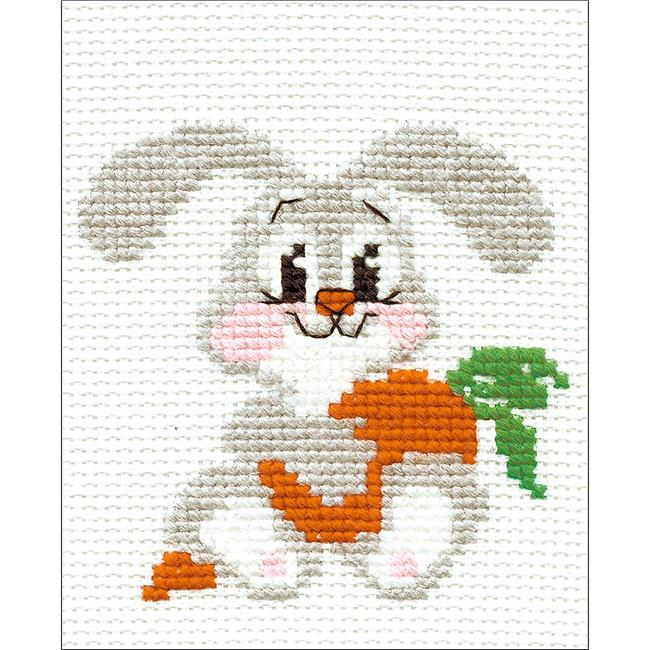 5 x 6.25 in. Lop Eared Bunny Counted Cross Stitch Kit - 10 Count