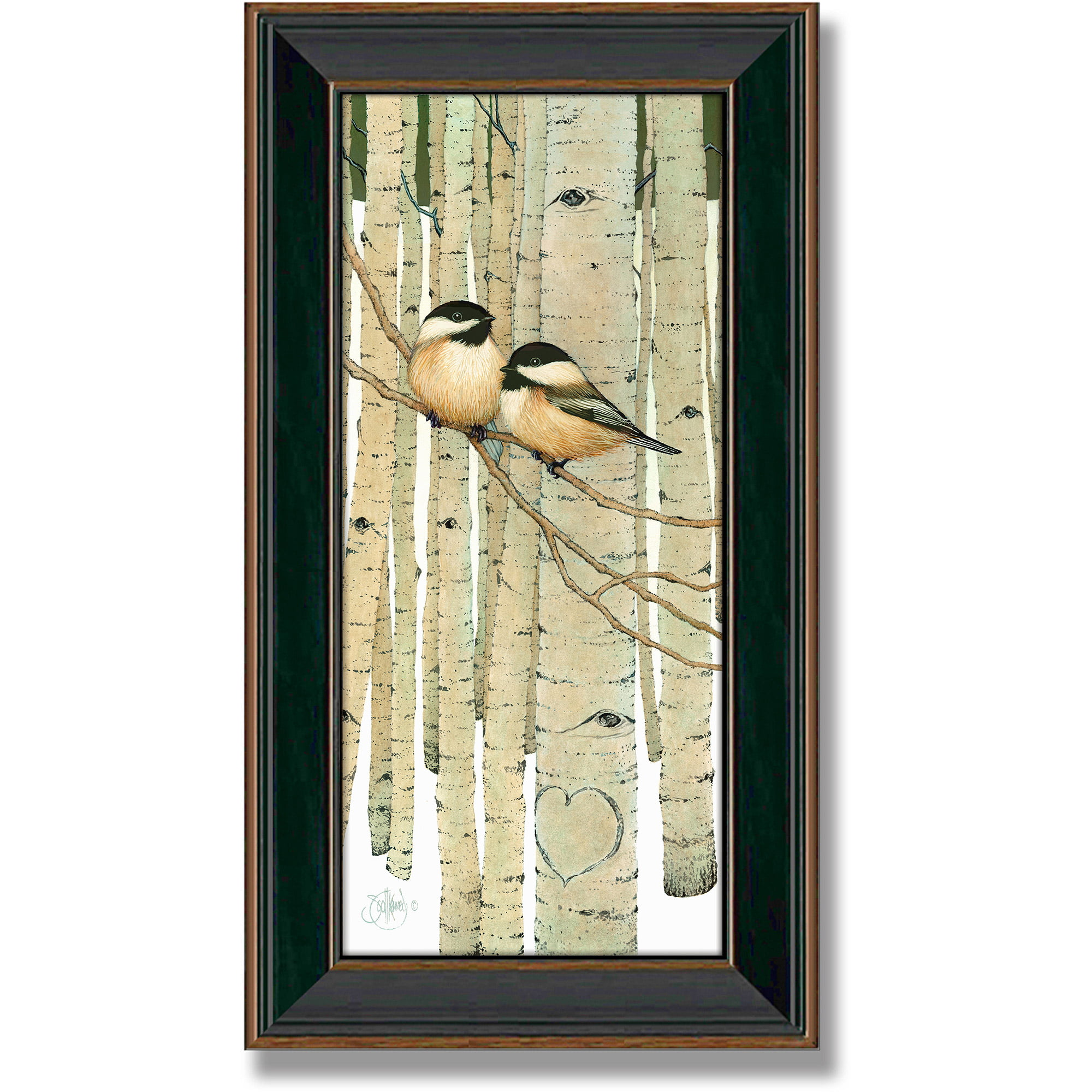 Personal-Prints Love Birds Framed Canvas Art by