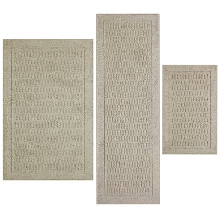 Mainstays Dylan Polyester Solid Pattern 3-Piece Accent Rug Set ()