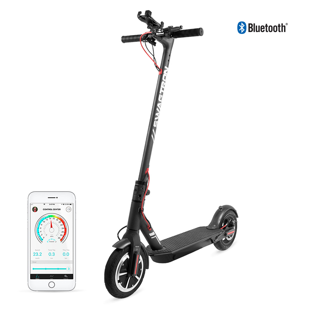 """Swagtron Electric Scooter 18MPH, 8.5"""" Tires, Portable & Foldable Swagger 5 Elite SG-5 by Swagtron"""